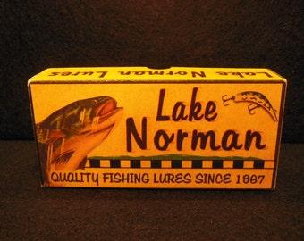 Lake Norman fishing cabin lake house decor fishing lure boxes 4YourLake