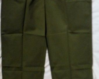 Rare Vintage 60s Vietnam Era US Military Issue Og 507 Polycotton Gerneral Zip 44 X 32 Utility Fatigue Pants (20 % DISCOUNT APPLIED)
