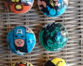 Marvel Avengers Handmade Knobs Drawer Pull Setof 6 Spiderman IronMan CaptainAmerica  Dresser Knob Pulls Switch Plate Covers to Match in Shop