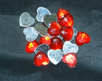 20 Valentine Heart Charms