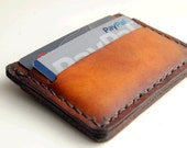 smallest wallet ever,slim wallet,thin wallet,thin leather,minimal,small,tribute66,america,hand made,brown card wallet,card wallet,men wallet