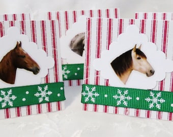 Jingle Horse Christmas Mini Thank You Cards of Gift Tags with Horses 24