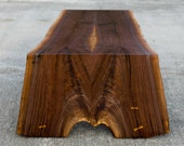 Live Edge Coffee Table - Walnut Folded Bole - Custom Furniture Occasional Decor - Salvaged Hardwoods - Solid Walnut Design - Functional Art