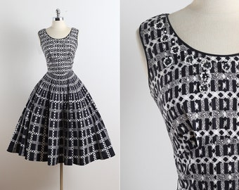 Francine . vintage 1950s dress . vintage cotton dress . 5648