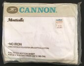 Vintage Cannon Full / Double Fitted Sheet - White - Original Package - Unused
