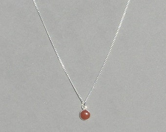 Carnelian Gemstone Drop Necklace
