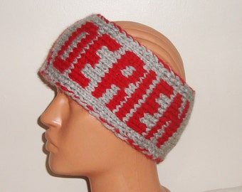 Personalized gift for boyfriend gift custom name knit headband birthday, Valentine's gift, personalized knit head band winter
