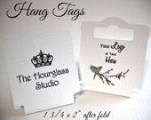 Hang Tags, Fold Over Tags, Necklace Cards, Bracelet Holder, Jewelry Display, Hair Tie Holder