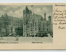 Prudential Life Building Post Office Newark New Jersey 1907c postcard