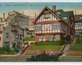 Artistic Apartment Homes San Francisco California 1910c postcard