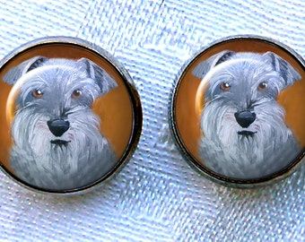 Schnauzer Post Earrings ~ Schnauzer Jewelry ~ Gifts for Her ~ June Birthday  ~ Dog Jewelry ~ Dog Earrings ~ Pet Keepsake