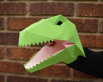 Make Your Own Velociraptor Hand Puppet with just Paper and Glue! Dinosaur Puppet | Kids Craft Project | Dinosaur Party | Raptor Squad