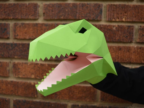 Make Your Own Velociraptor Hand Puppet With Just Paper And