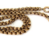 Vintage 14K Yellow Goldfill  Pocket Watch Chain ,16 3/4 Inches
