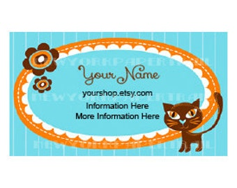 Printable Business Card, Business Card, Modern Business Card, Cards, Cat Business Card, Cats, Cards by NewYorkPaperTrail on Etsy