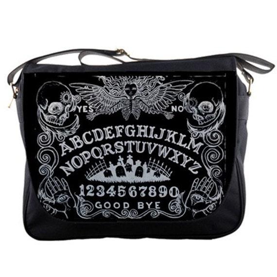 Ouija Board Angel in black Messenger Bag