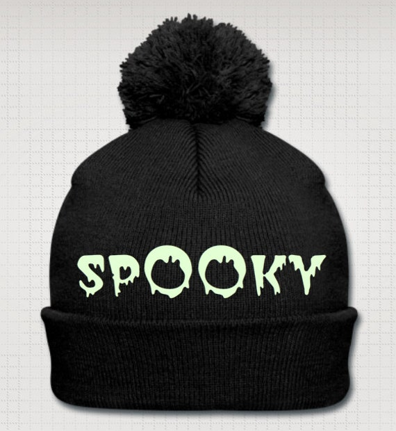Spooky glow in the dark knit cap