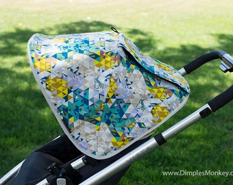 Custom Uppababy Vista Replacement Canopy with peekaboo window