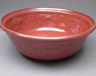 Red Stoneware Bowl