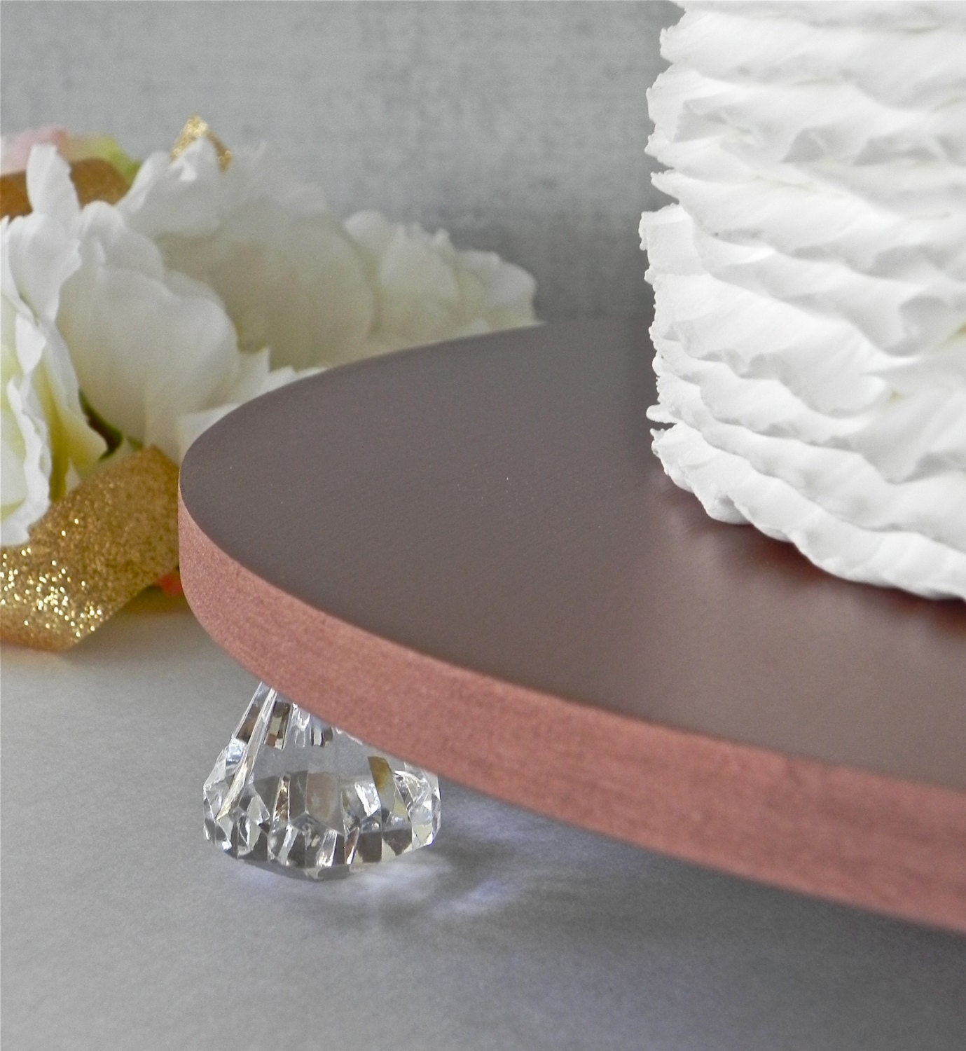 Rose Gold Cake Stand 14 Wedding Gold Cupcake By