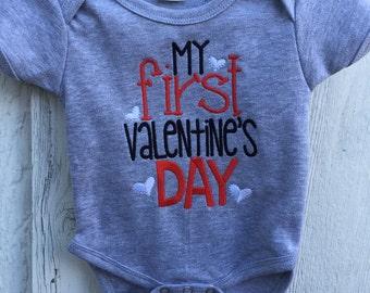 Boy's My First Valentine's Day Shirt