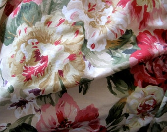 RALPH LAUREN QUEEN Bedskirt  floral vintage pattern Ralph Lauren cottage floral country