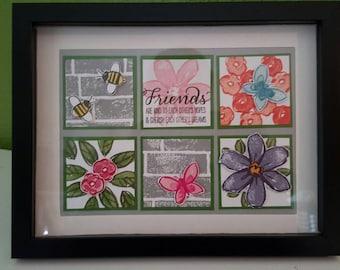 Framed Sampler - Stampin' Up Garden in Bloom