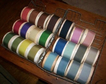 "Vintage Petersham cotton/rayon ribbon 1 1/4"" to  1 3/8"""