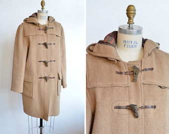 Vintage 1980s wool GLOVERALL duffle coat