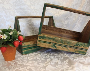 Vintage Wood Tool Box, Utensil, Kitchen Decor
