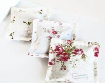 Organic Lavender Sachet,  100 Percent Cotton, Set of Three