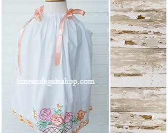 Antique Pillowcase Dress Girls dress Sundress Pillow Case Dress Size 2T dress (ANT708) FREE Clip