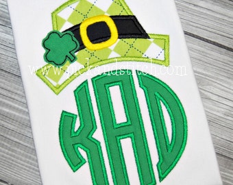 Sample Sale St. Patrick's Day Shirt, Monogrammed Leprechaun, Appliqued, Short or Long Sleeve Shirt, Totally Custom, Name Embroidered