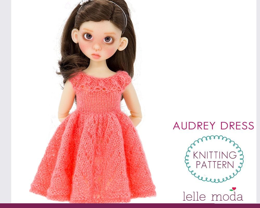 Knitting Pattern Dolls Dress : Doll Dress Knitting Pattern for Kaye Wiggs MSD BJD Dolls Doll
