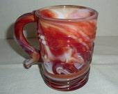 RESERVED...Imperial Slag Glass Mug