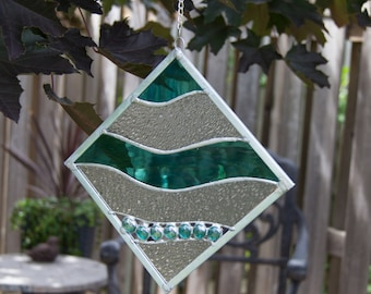 Stained Glass Wave Panel