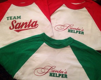 Santas Helper Raglan