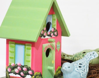 Hand Painted Personalized Birdhouse