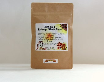 Salt Free Kootenay Steak Spice - Sans Sel Steak Seasoning - Meat Rub - Steak Rub - Smokey Meat Flavour