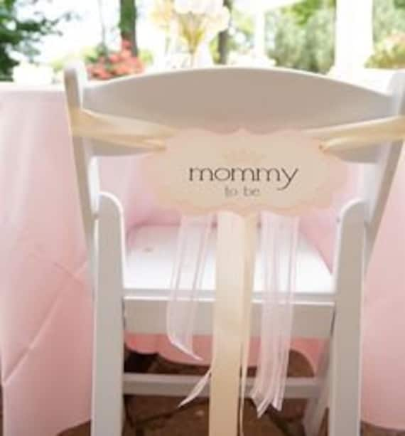 Mommy To Be Chair Sign Baby Shower Decoration in my Elegant Vintage Label Design Prepared in all of the Colors on my Color Chart