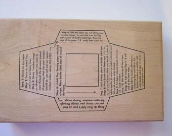 rubber stamp - square SHAKER TEMPLATE - Art Gone Wild - circa 2000
