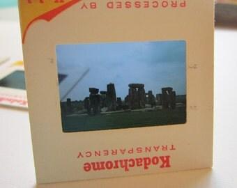 9 vintage slides of STONEHENGE - snapshots, circa 1970s