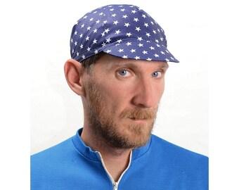 Serin  Blue Star Handmade Custom Bicycle Cap