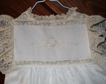 Heirloom dress size 3 white/ecru hand embroidery  wedding portrait flower girl beach portrait birthday graduation