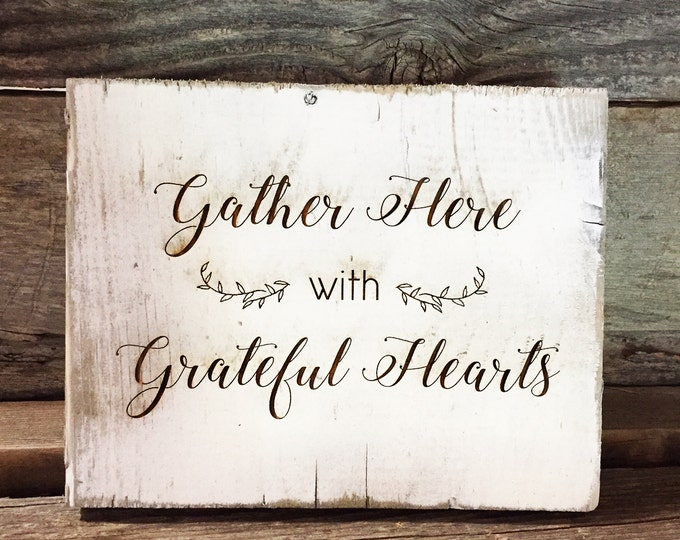 Rustic Barnwood Thanksgiving Signs