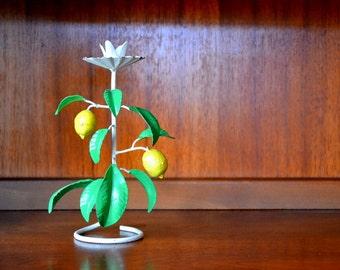 vintage shabby chic lemon tree candle holder / mothers day / mom