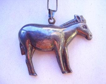 Vintage Sterling Silver Horse/Donkey Pendant