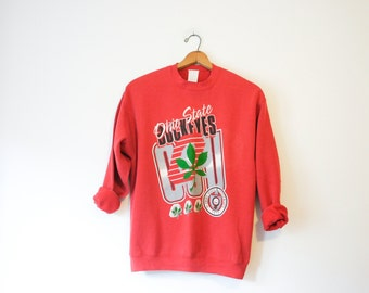 Vintage Red Ohio State Buckeyes Sweatshirt