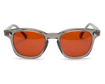 Vintage Deadstock American Optical Safety Glasses - Grey & Orange