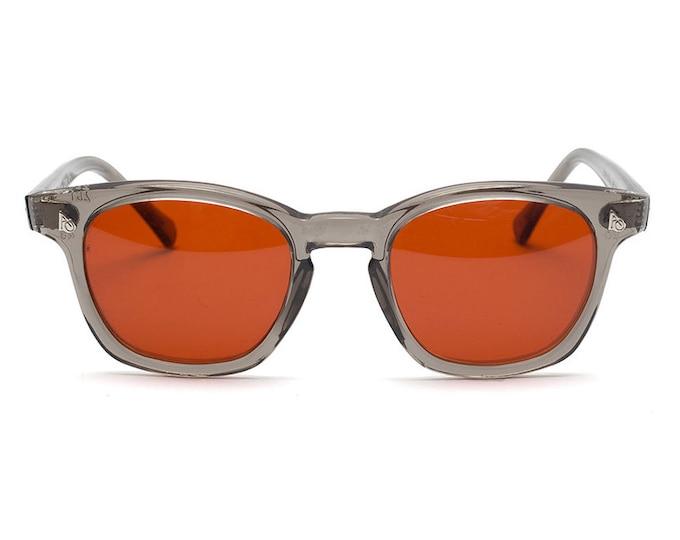 Vintage Deadstock American Optical Safety Glasses - Grey & Orange